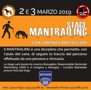 2-3 marzo 2019 stage mantrailing