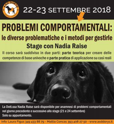 problemi comportamentali - stage con Nadia Raise